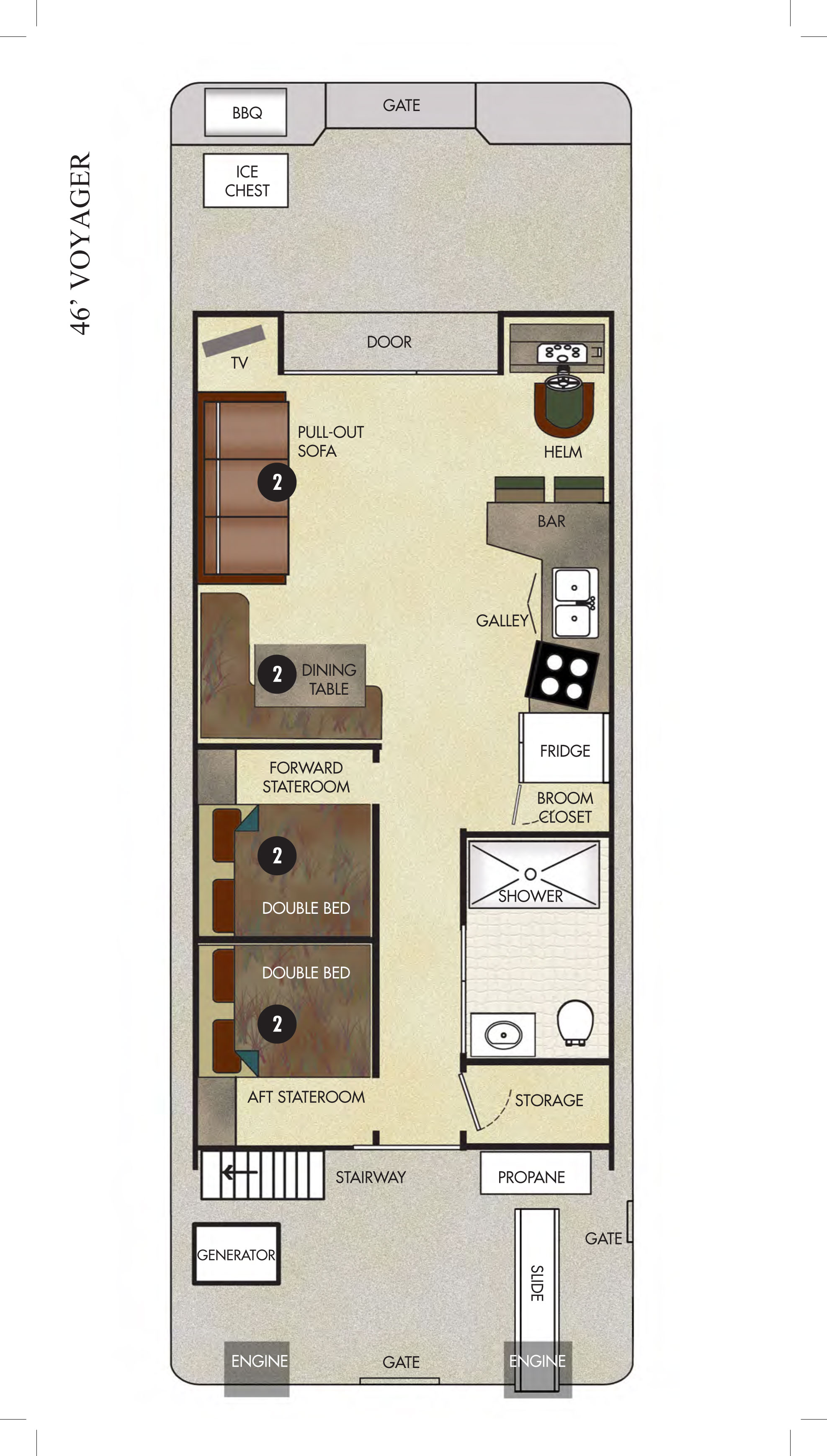 Sample House Floor Plan The Voyager Economy Houseboat Available For Rent At Lake How To Set