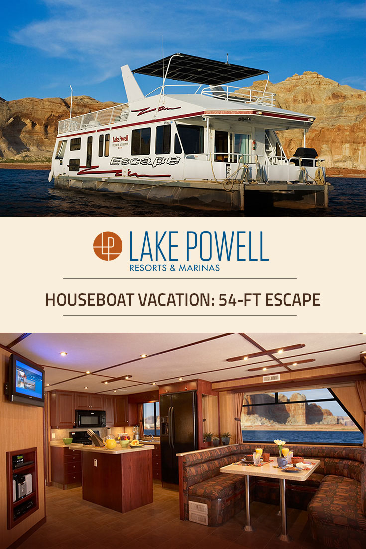 Escape luxury houseboat rental lake powell resorts for Powell house