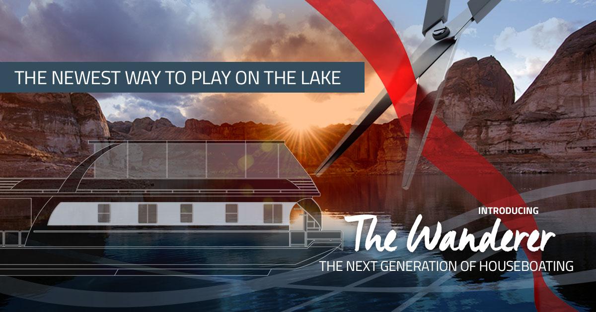 New Custom Built AmenityLaden Houseboats To Launch On Lake Powell - Modern custom houseboat graphics