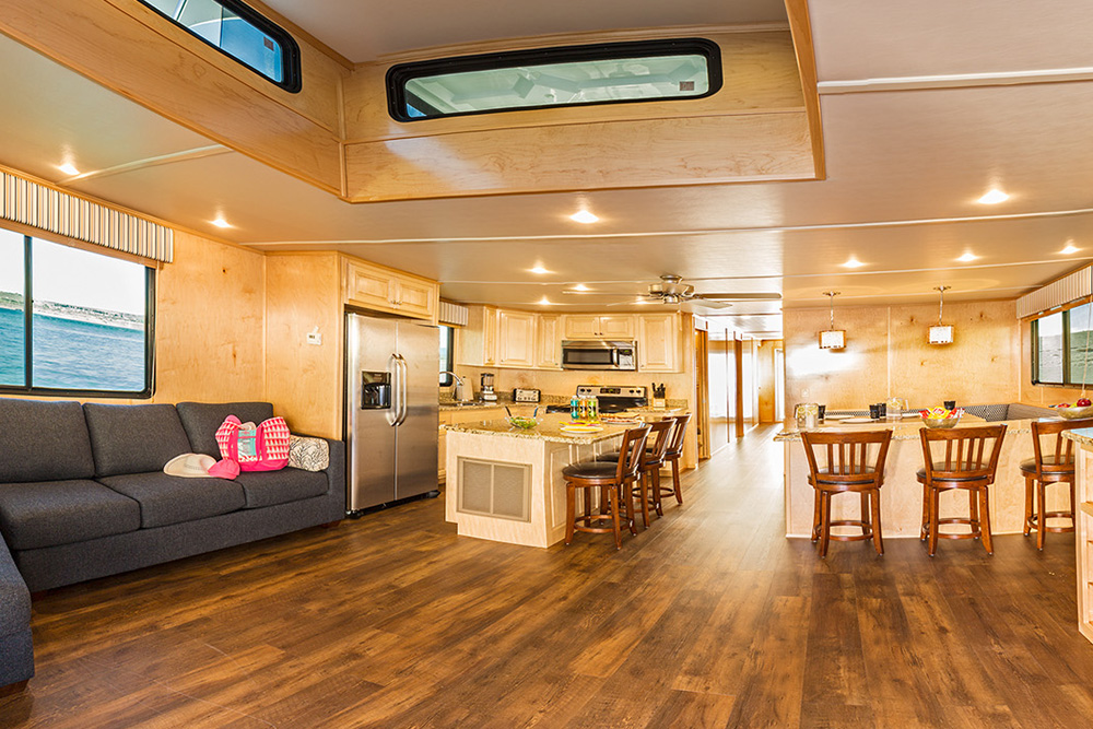 The Wanderer Houseboat Interior