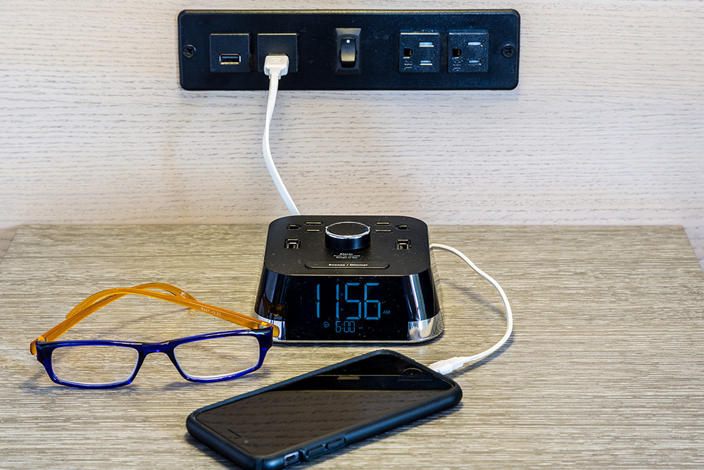 Guest Room Charging Station - Defiance House Lodge