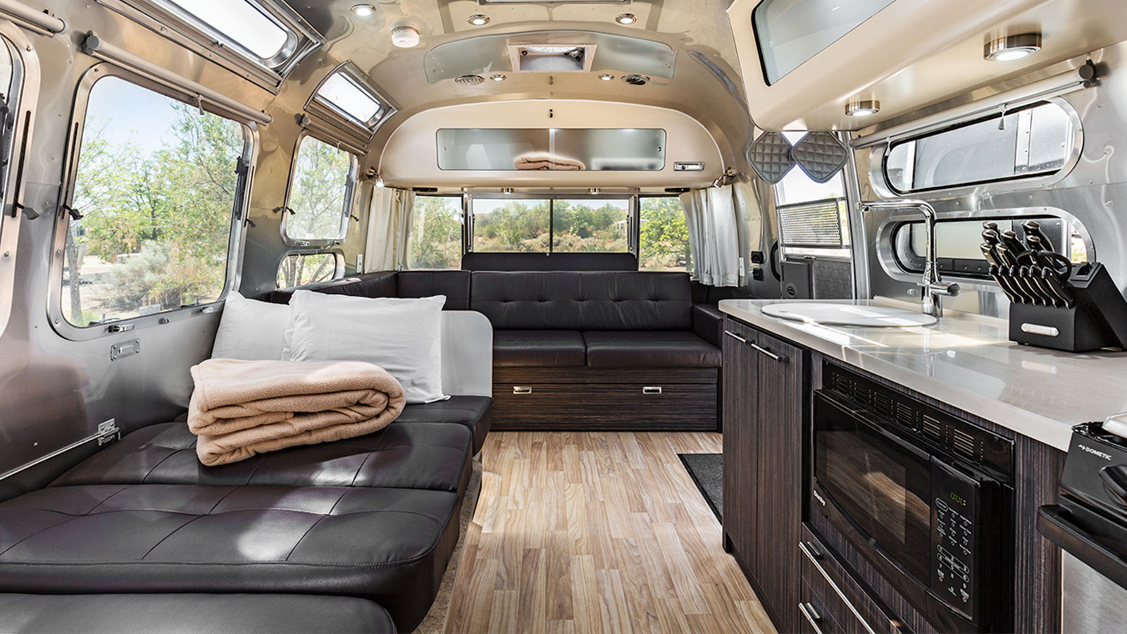 Airstream Interior - Convertible Bed