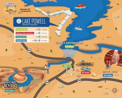 lake powell buoy map Lake Powell Area Maps Lake Powell Resorts Marinas Az Ut lake powell buoy map