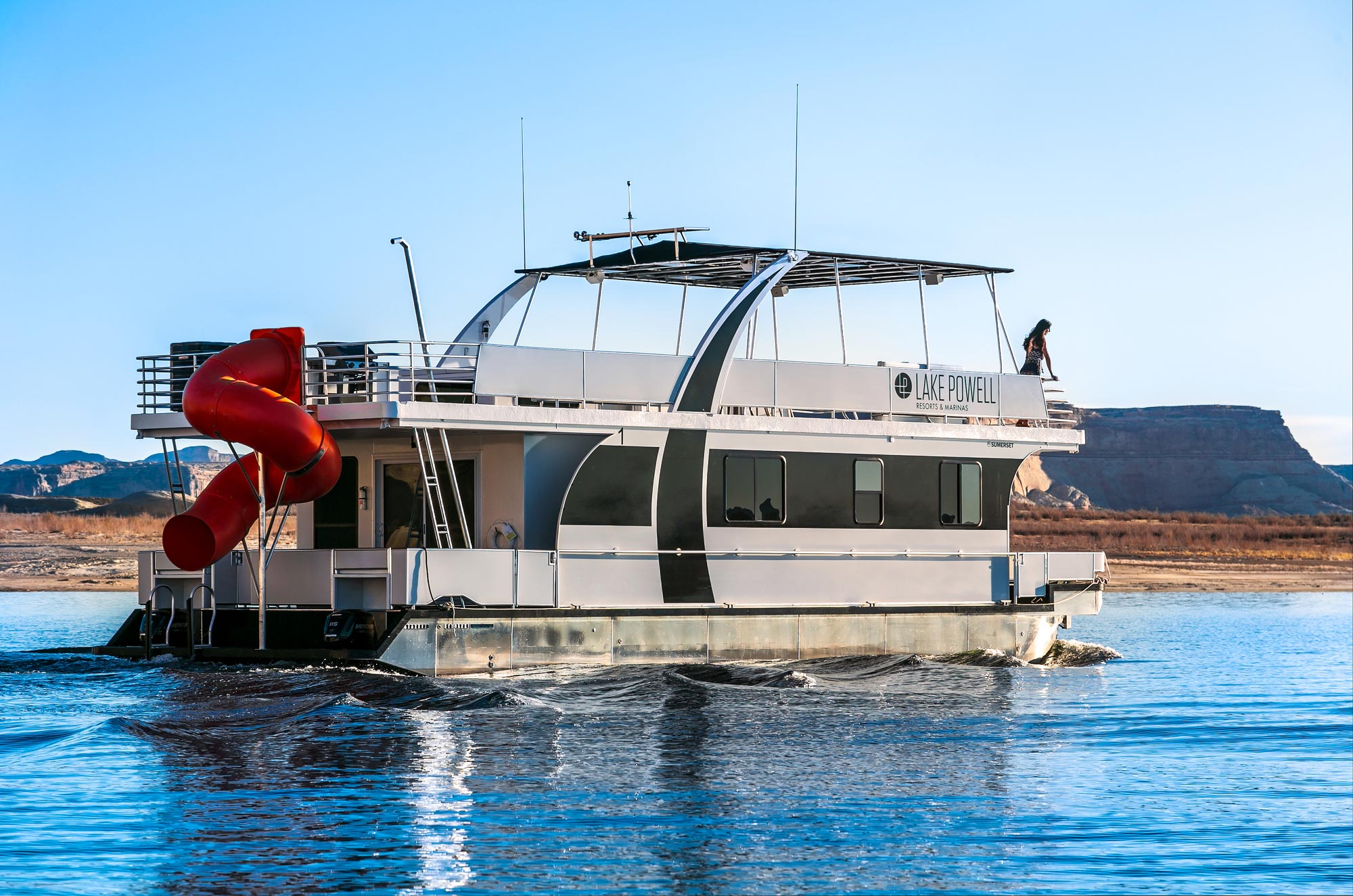 The new 50-ft Nomad Houseboat on Wahweap Bay
